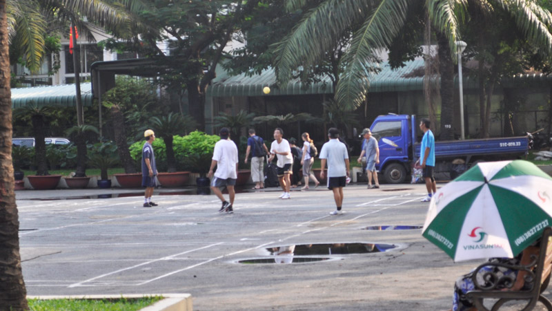 People exercising in the 23/9 park in Ho Chi Minh City